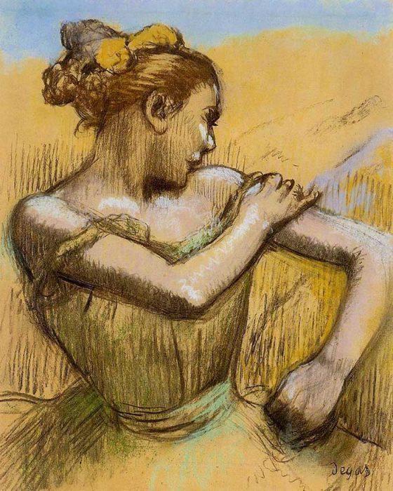 Inspirational Drawing Quotes - Edgar Degas, Torso Of A Dancer, 1899