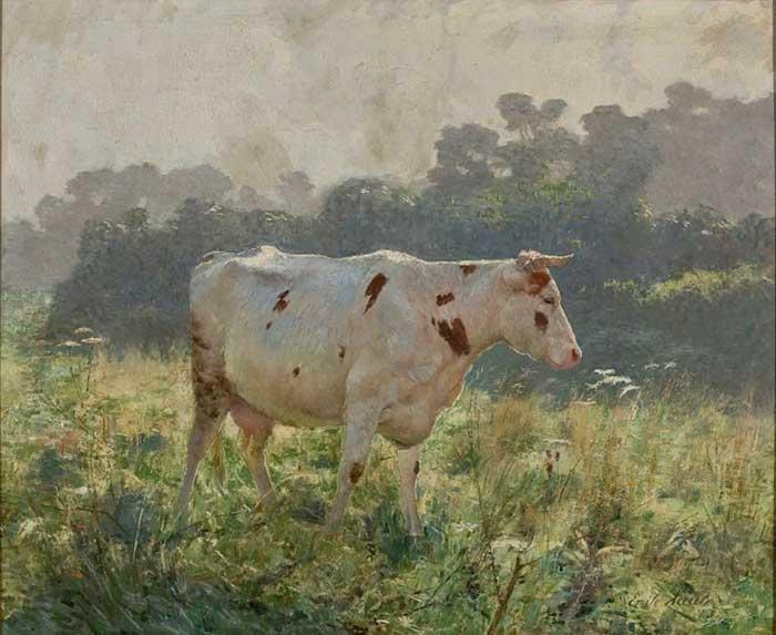 Paleta de colores análogos |  Emile Claus, Vaca