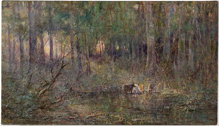 Frederick McCubbin, Violeta y oro, 1911
