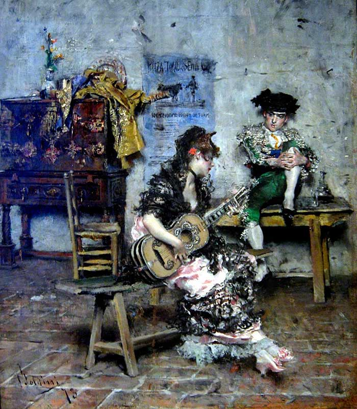 Giovanni Boldini Woman | Portrait Inspiration | Giovanni Boldini, A Guitar Player, 1873