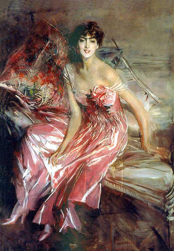 Giovanni Boldini Woman | Portrait Inspiration | Giovanni Boldini, Lady In Rose, 1916