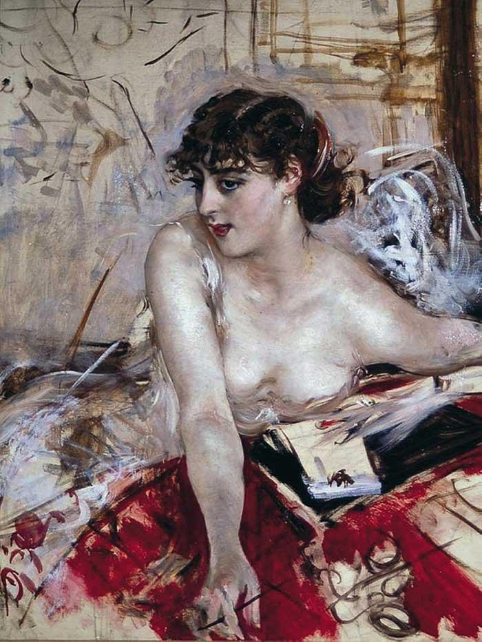 Giovanni Boldini Woman | Portrait Inspiration | Giovanni Boldini, Morning Letter, 1884