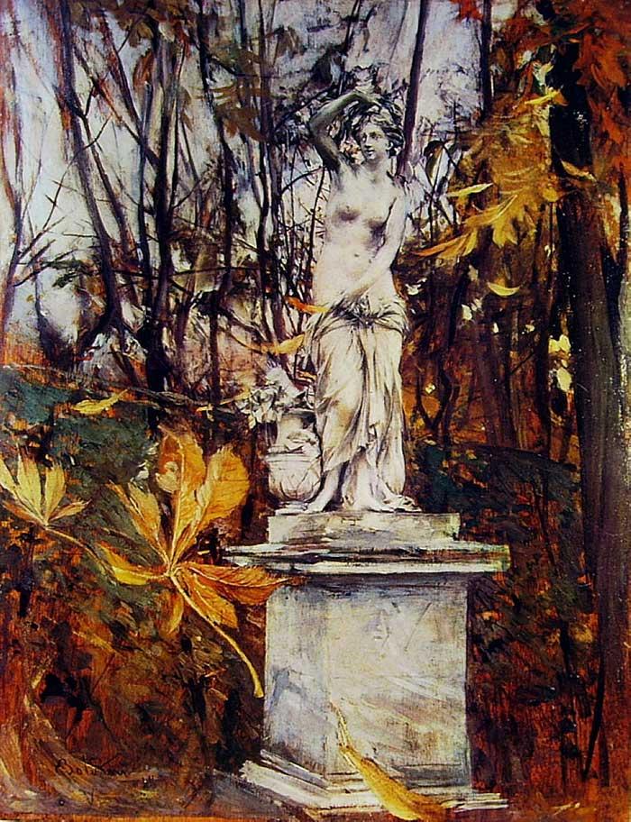 Giovanni Boldini, Statue In The Park Of Versailles
