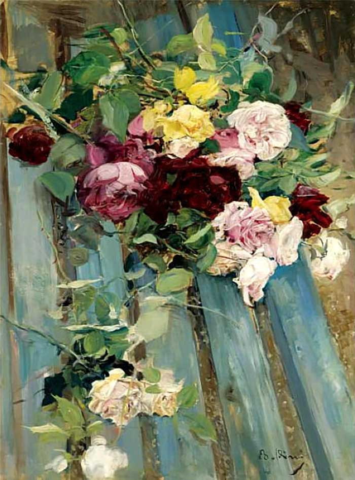 Oil Painting Still Life | Giovanni Boldini, Still Life With Rose