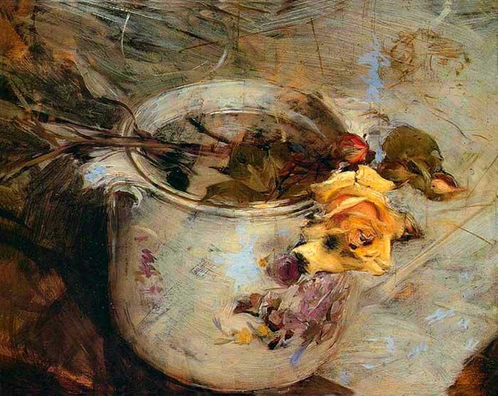 Giovanni Boldini, La rosa en florero de Sassonia
