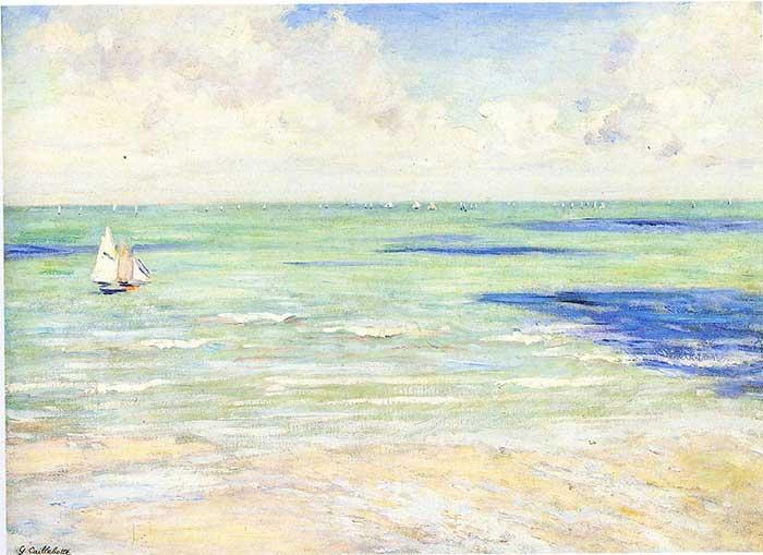 Paleta de colores análogos |  Gustave Caillebotte, Marina, regata en Villers, 1880-1884