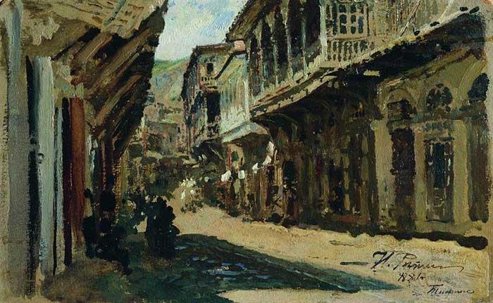 Ilya Repin, Street In Tiflis, 1881