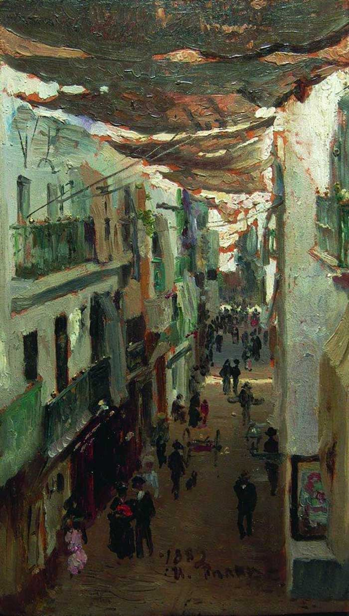 Ilya Repin, Street Of The Snakes In Seville, 1883