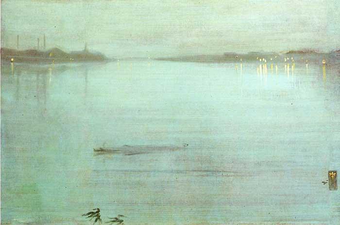 James Whistler, Nocturne, azul y plata, Chelsea, 1872