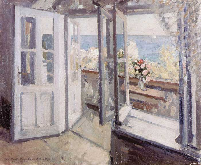 Konstantin Korovin, Balcony In The Crimea, 1910