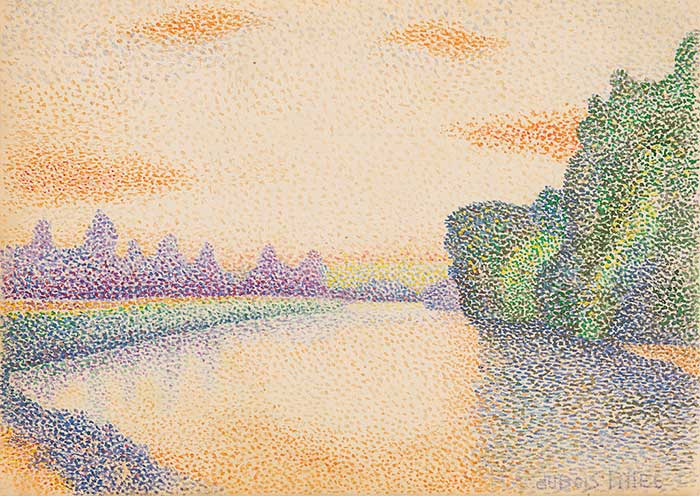 Albert Dubois-Pillet, The Banks Of The Marne At Dawn, 1888