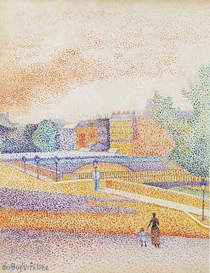 Albert Dubois-Pillet, Vue de Paris, 1885