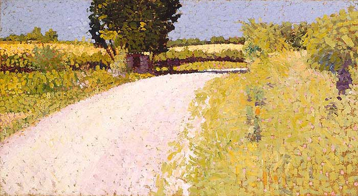 Charles Angrand, Path In The Country, 1886