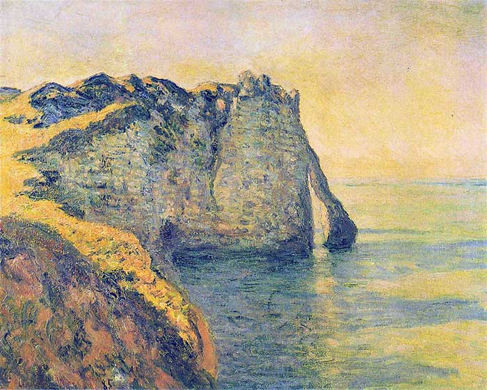 Claude Monet, Cliffs Of The Porte d'Aval, 1885