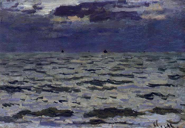Claude Monet, Seascape, 1866