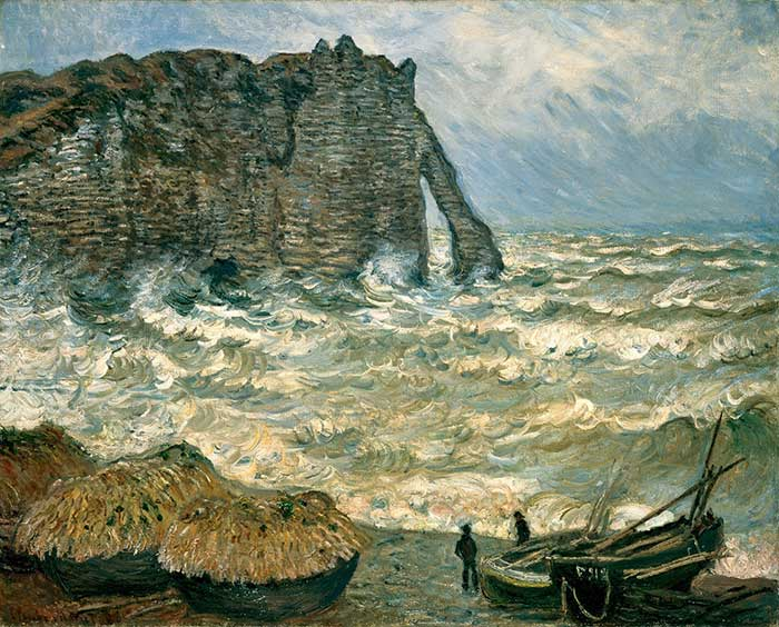Claude Monet, Stormy Sea in Étretat, 1883