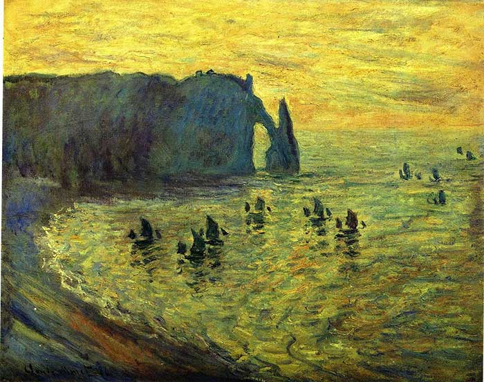 Claude Monet, The Cliffs At Etretat, 1886