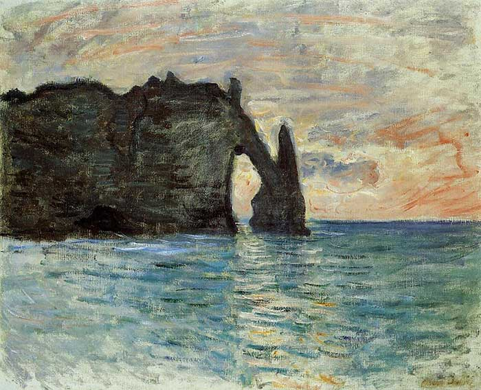 Claude Monet, The Manneport, Cliff At Etretat, 1883