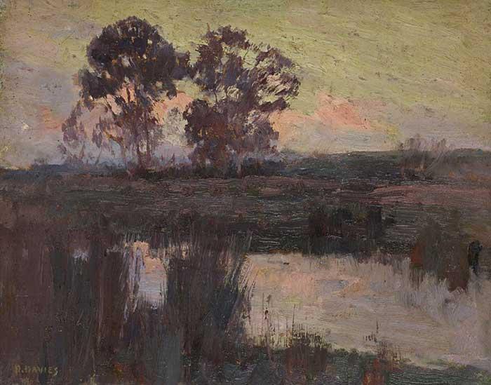 David Davies, Nocturne, Templestowe, 1896