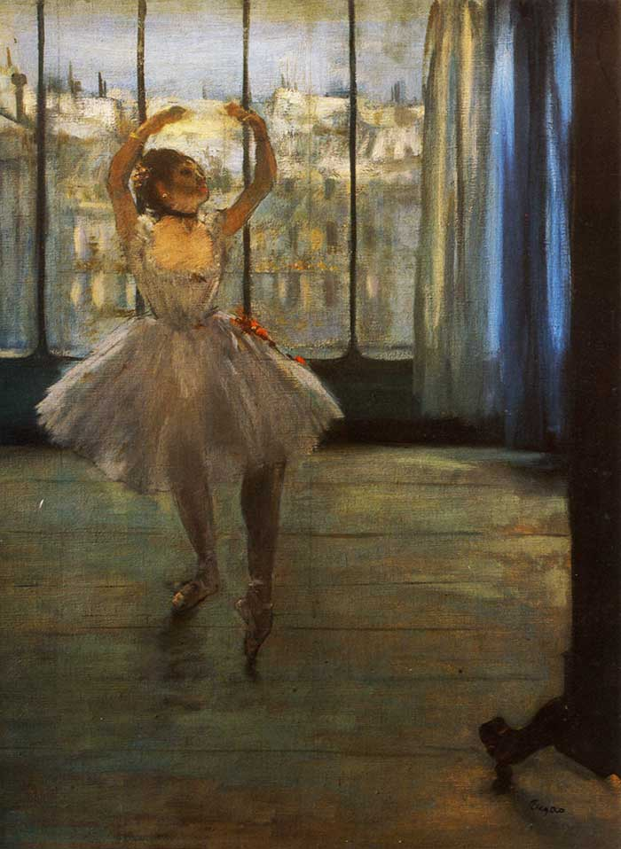 Low Key Painting | Low Key Color | Edgar Degas, Dancer Posing, 1878