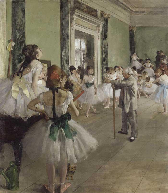 Edgar Degas, The Ballet Class, 1871-1874