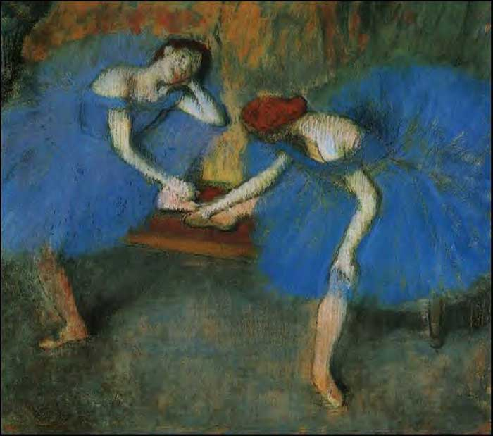 Edgar Degas, Two Dancers In Blue, 1899