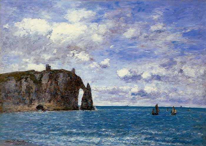 Eugene Boudin, The Cliffs At Etretat, 1890