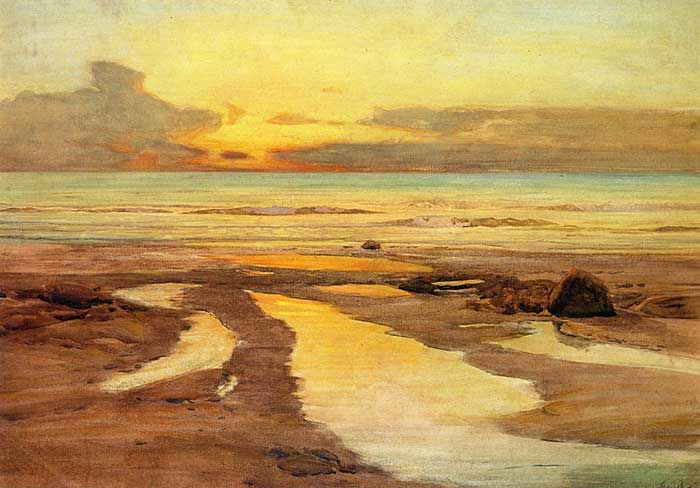 Frederick Judd Waugh, Looking West, St. Ives, 1896