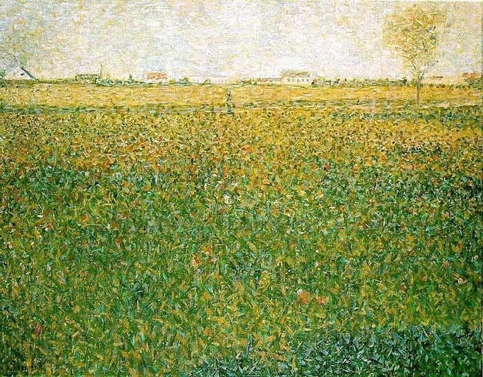 Georges Seurat, Alfalfa, St. Denis, 1885-1886