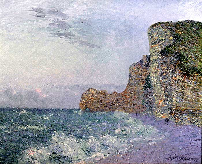 Gustave Loiseau, Cliffs In Normandy Evening, 1909