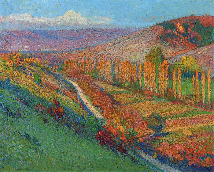 Henri Martin, Green Valley With Stream