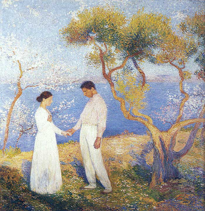 Henri Martin, Landscape With Couple