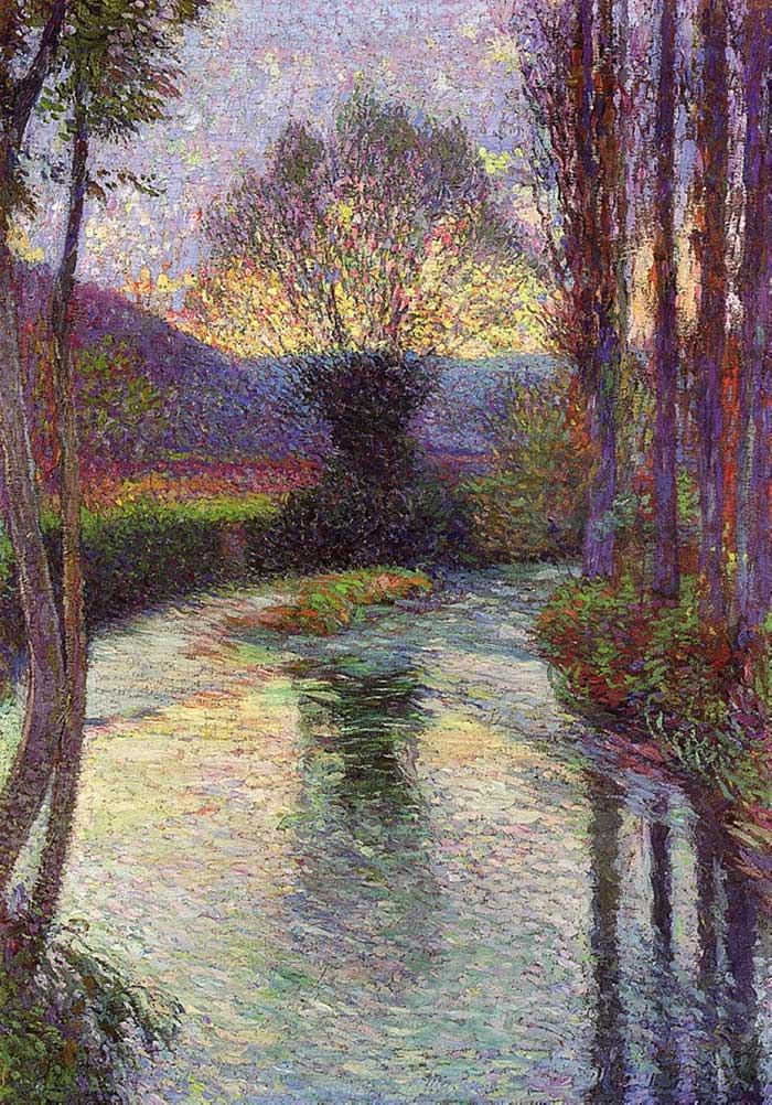 Henri Martin, Reflected Willow On The Green, 1915