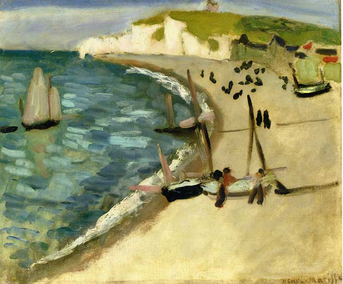 Henri Matisse, Aht Amont Cliffs At Etretat, 1920
