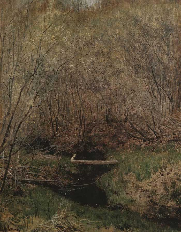 Isaac Levitan, Spring In The Forest, 1882