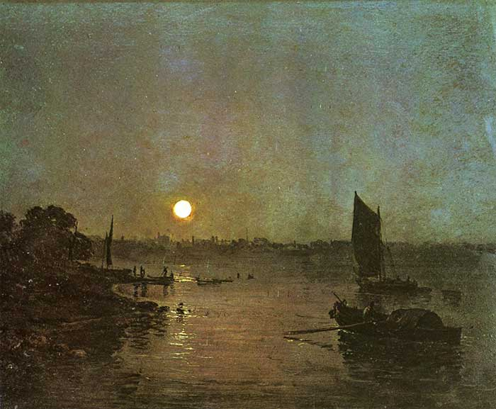 J.M.W. Turner, Moonlight, A Study At Millbank, 1797