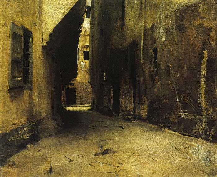 John Singer Sargent, A Street In Venice, 1882