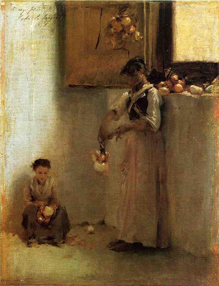 John Singer Sargent, Stringing Onions, 1882