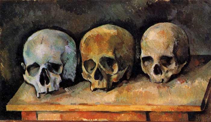 Paul Cézanne, The Three Skulls, 1900