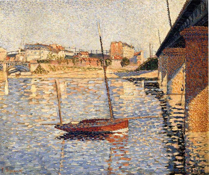 Paul Signac, Le Clipper, Asnieres, 1886