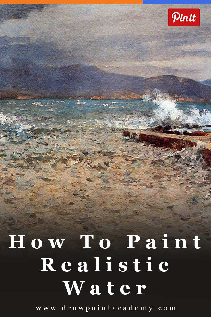 Landscape Painting Tips - How To Paint Water For Beginners | Painting For Beginners | Painting Ideas | Oil Painting Tips | Canvas Painting Ideas