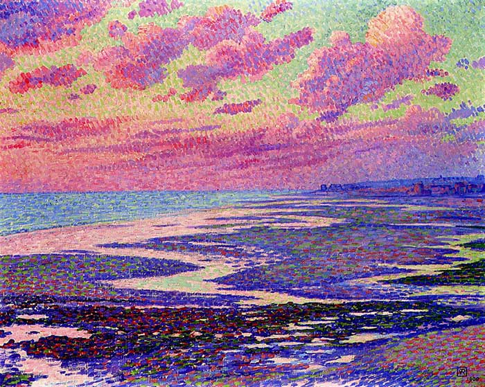 Theo van Rysselberghe, The Beach At Ambleteuse At Low Tide, 1900