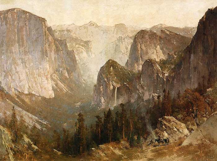 Thomas Hill, Piute Indian Encampment, Yosemite