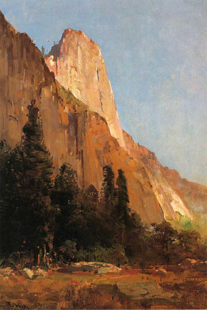 Thomas Hill, Sentinel Rock, Yosemite, 1880