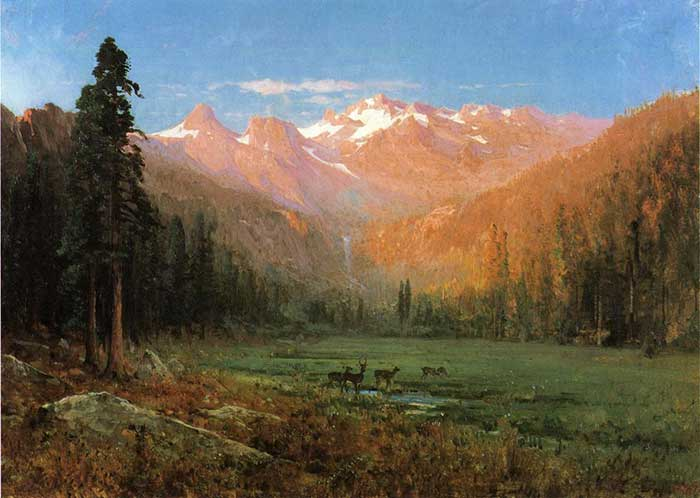Thomas Hill, View Of Cascade Lake, Near Tahoe, 1874