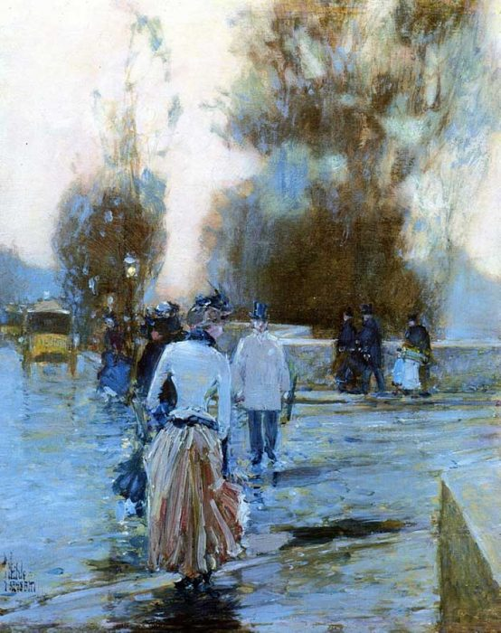 Childe Hassam, Dock Of Tuileries, 1888-1889