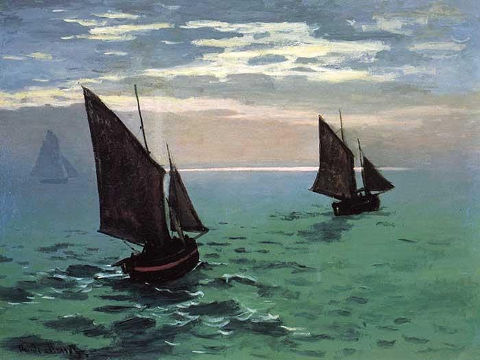 Claude Monet, Fishing Boats At Sea, 1868