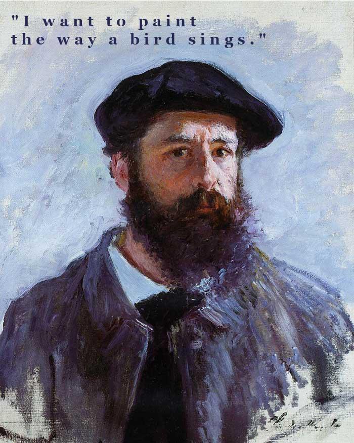 Claude Monet, Self-Portrait With A Beret, 1886 | Painting Quotes