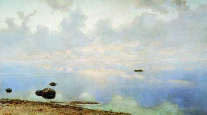 Principles Of Art - Efim Volkov, Seascape, 1895