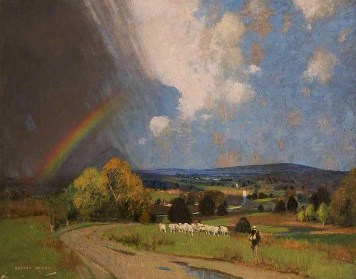 George Henry, Landscape With Rainbow